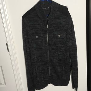Apt 9 Men's black/grey sweater jacket size XXL